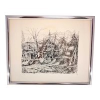Ring Ragnar limited edition lithograph No.64/85-signed in pencil-framed and ready to hang (Weight: 545g)