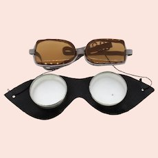 Vintage unisex goggles-one size-2 goggles included-over 60 years old