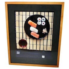 Sushi photograph-framed and ready to hang-photographer signed and dedicated on rear of photo