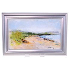 Ralph Bjorklund oil on board painting-Swedish coastal scene-Signed and dated 1988 (Weight: 444g)