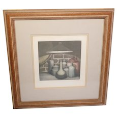 Vintage still-life limited edition colour print D No. 33/175-signed by the artist-framed and glazed