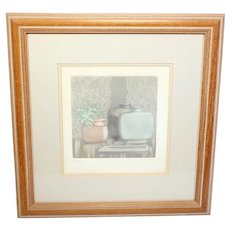 Vintage still-life limited edition colour print C No. 33/175-signed by the artist-framed and glazed