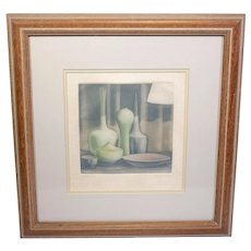 Vintage still-life limited edition colour print B No. 33/175-signed by the artist-framed and glazed