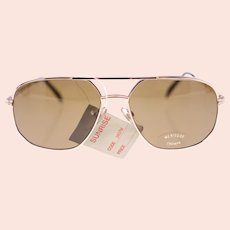 Mensique 'Brian' 3437M unisex vintage pilot-style sunglasses-NEW-signs of ageing (Weight: 40g)