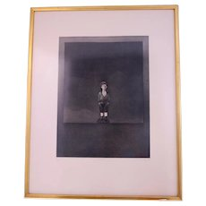 Terence Millington 'Figure 1' etching and aquatint-framed and ready to hang (Weight: 2.775kg)