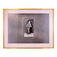 Terence Millington 'Figure 1' girl etching and aquatint-framed and ready to hang (Weight: 2.82kg)