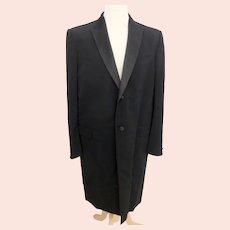 "Alexander McQueen mens vintage black evening coat-Size 54-Chest 44"""