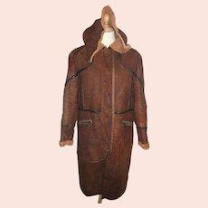 Roberto Cavalli mens full-length vintage brown coat-Size Large