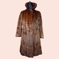Hockley Furs ladies dark brown British vintage mink coat from the 1950s-UK 10-EU 38