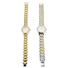 Vintage ladies watches-Welbeck 3ATM 24k gold-plated Swiss watch-Vialli 853801 stainless steel watch