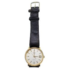 Rotary Quartz 1558 mens wristwatch with leather strap (Weight: 30g)