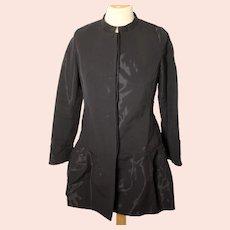 Osman Yousefzada ladies black reflective vintage jacket-UK 8-EU 36