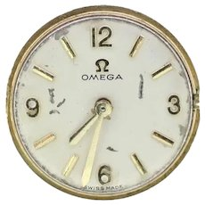 Omega ladies vintage watch movement from the 1960s with Omega booklet and wallet
