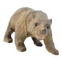 Wooden hand carved Scandinavian brown bear (Weight: 33.4g)