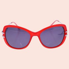Christian Lacroix CL 5039 277 ladies vintage sunglasses-red and silver frame-Weight 30g