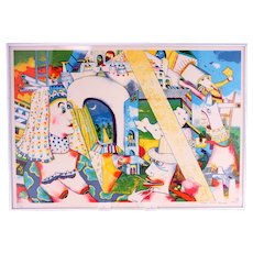 Anne-Marie Brauge surrealist colour lithograph No. 69/190-signed and dated 1991 (Weight: 1.270kg)