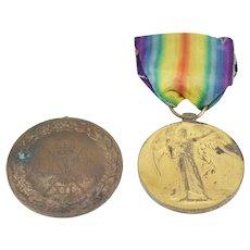 Royal Marines Medal bundle-1914-1919 Great War for Civilisation Medal-1956 Sports Medal Support Troop Bronze 3rd Place
