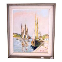 Helmuth Wickström vintage oil on canvas painting-framed and ready to hang (Weight: 1.365kg)