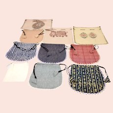 Handmade vintage mini bags/pouches bundle-10 items included (Weight: 224g)