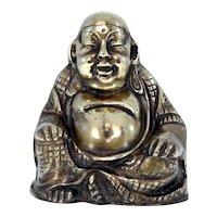 Antique 19th Century handmade bronze Buddha from Tibet-Weight: 918g