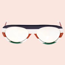 Vintage Italian 1970s sunglasses with mirrored lenses-Weight: 41g