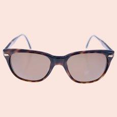 Luxottica 8036-0222 ladies vintage sunglasses-brown tortoiseshell pattern frame-Weight: 29g