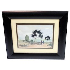 Peter Bell watercolour-vintage artwork framed and glazed-ready to hang-signed by artist