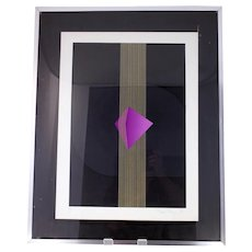 Vintage abstract modernist lithograph from 1976-signed-framed and glazed ready to hang-Weight: 4.330kg