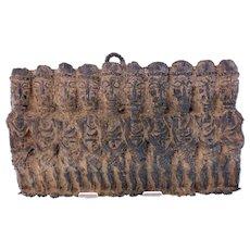 19th Century Benin bronze wall relief (Weight: 2.160kg)