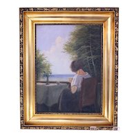 Emil Krause oil on canvas painting-framed and ready to hang (Weight: 1.75kg)
