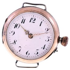 Victorian 800 silver watch head-no strap-needs repairing (Weight: 20g)
