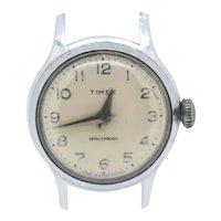 Timex 8I shockproof vintage watch head-no strap-needs servicing (Weight: 14.2g)
