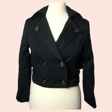 Marc by Marc Jacobs ladies cropped black wool-blend jacket-Size L-NEW