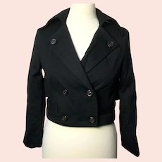 Marc by Marc Jacobs ladies cropped black wool-blend jacket-Size XS-NEW