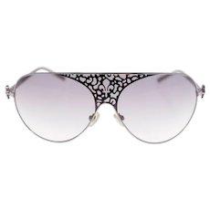Vintage Patrick Cox FC1 unisex pilot-style shield sunglasses (Weight: 32g)