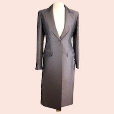 Whistles ladies grey full-length coat-UK 8-EU 36-Excellent condition