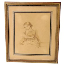 19th Century David Monies ink and pencil etching-framed and ready to hang (Weight: 178g)