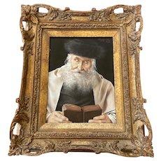 Otto Eichinger Signed Rabbi Painting