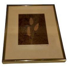 1980 Signed Wynn Hopkins Etching