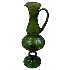 1960's Decorative Glass Vase
