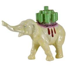 Porcelain Figural Elephant Cigarette Holder Bavarian