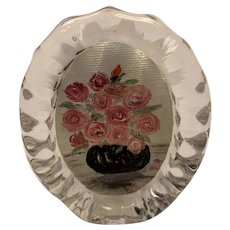 Fostoria oval picture frame.