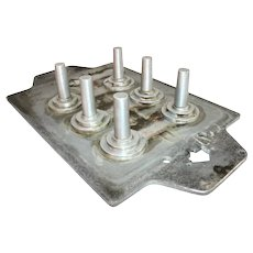 "Vintage Raytheon Aluminum Foundry Mold ~Circa: 1950s~ 24"" x 14"" x 4"" --> Fast Free Shipping"