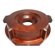 Vintage Raytheon Mahogany Foundry Mold ~Late 1950s to Early 1960s~ Free Fast Shipping