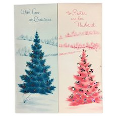 Norcross Unused Christmas Card to Sister and Her Husband