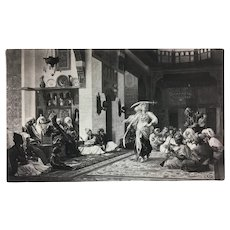 Sword-Dance at a Pacha's 1881 Photogravure After Jean-Leon Gerome
