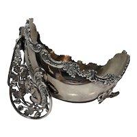 Adelphi Antique Victorian Art Nouveau Silver Plate Squirrel Nut Bowl Dish c1900