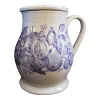 Antique Staffordshire Minton Porcelain Pearlware Treacle Jar w Screw Lid