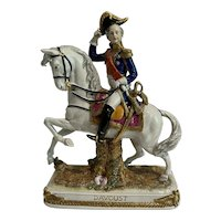 """Scheibe-Alsbach """"Davoust"""" Polychrome Porcelain General Figurine Germany c1900"""