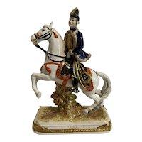 "Scheibe-Alsbach ""Pajol"" Polychrome Porcelain General Figurine Germany c1900"